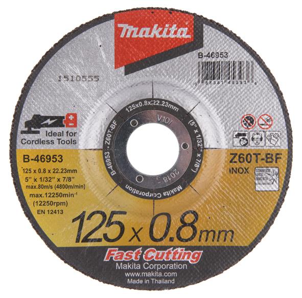 Griešanas disks Makita B-46953; 125x0,8