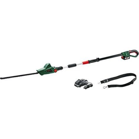 Teleskopiskas dzīvžoga šķēres Bosch Universal Hedge Pole 18; 18 V; 1x2,5 Ah akumulatora; 43 cm