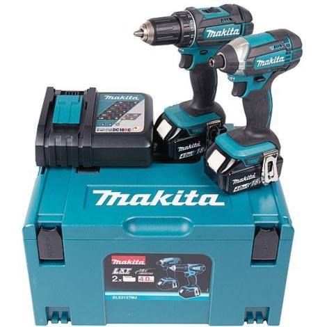 Instrumentu komplekts Makita DLX2127MJ (DDF482+DTD152); 18 V; 2x4,0 Ah akum.