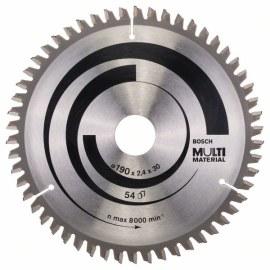 Griešanas disks kokam Bosch; MULTI MATERIAL; Ø190 mm
