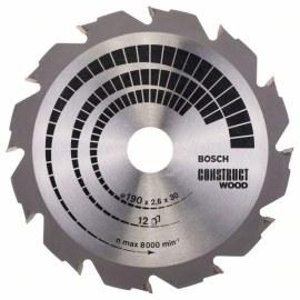 Griešanas disks kokam Bosch CONSTRUCT WOOD; 190x2,6x30,0 mm; Z12; 12°
