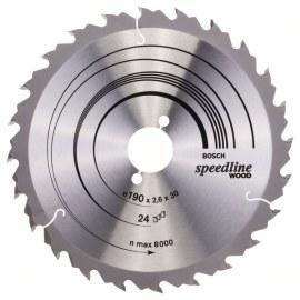Griešanas disks kokam Bosch; SPEEDLINE WOOD; Ø190 mm