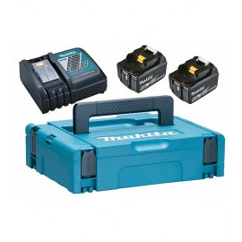 Akumulators Makita 197624-2; 18 V; 2x5,0 Ah; Li-ion + lādētājs DC18RC + koferis