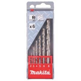 Metāla urbju komplekts Makita HSS-G; 2-8 mm; 6 gab.