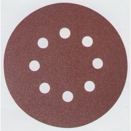 Smilšpapīra diski Velcro Backed 125 mm; K80; 10 gab.