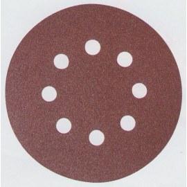 Smilšpapīra diski Velcro Backed 125 mm; K180; 10 gab.