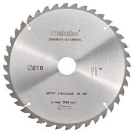 Griešanas disks kokam Metabo Classic; 216x2,4x30,0 mm; Z40; -5°