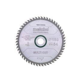 Universālais griešanas disks Metabo Multi-Cut; 160x2,2x20,0 mm; Z54; 8°