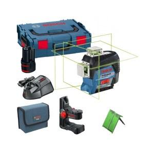 Lāzera nivelieris Bosch GLL 3-80 CG + turētājs BM1 + koferis L-Boxx Lazer