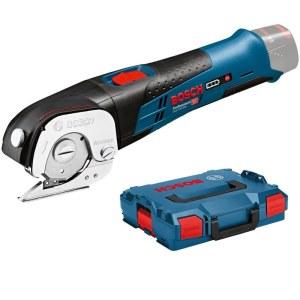 Universālās šķēres ar akumulatoru Bosch GUS 12V-300 Professional Solo L-boxx; 12 V (bez akumulatora un lādētāja)