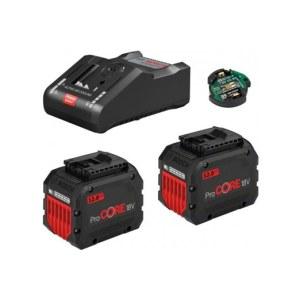 Piederumu komplekts Bosch GBA ProCORE 18 V; 2x12,0 Ah akumulators + lādētājs GAL 18V-160C + modulis GCY 42