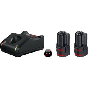 Piederumu komplekts Bosch GBA; 12 V; 2x2,0 Ah + lādētājs