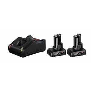 Piederumu komplekts Bosch GBA; 12 V; 2x6,0 Ah + lādētājs