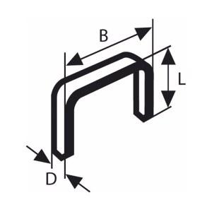 Skavas Bosch; 11,4x18 mm; 1000 gab.; tips 53; tērauds