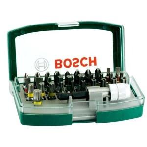 Skrūvgriežu uzgaļu komplekts Bosch Promoline Colored; 32 gab.