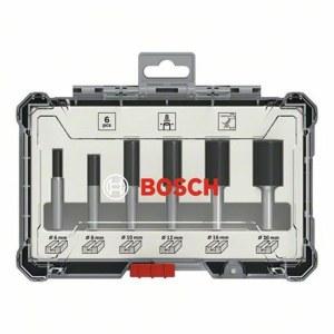 Frēžu komplekts Bosch Straight; 8 mm; 6 daļu