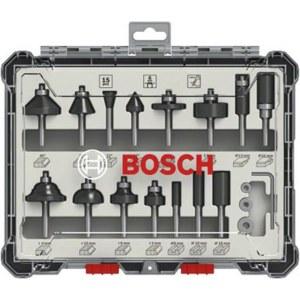 Frēžu komplekts Bosch; 6 mm; 15 gab.