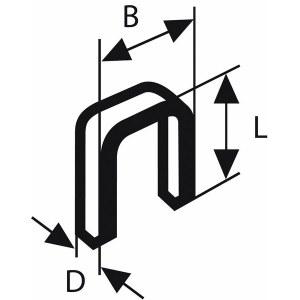 Šauras skavas Bosch TK40 15G; 1,2/18gx15; 5000 gab.