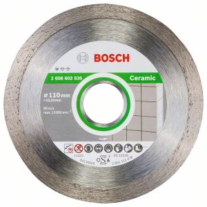 Dimanta griešanas disks Bosch PROFESSIONAL FOR CERAMIC; 110 mm