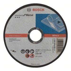 Abrazīvais griešanas disks Bosch Standard; 125x1,6 mm