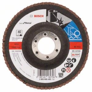 Lāpstveida slīpēšanas disks Bosch Best for Metal; 115 mm