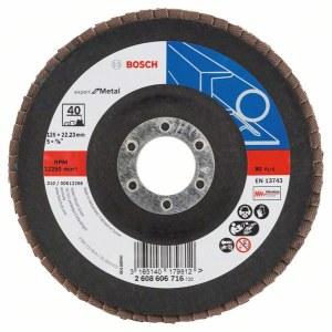 Lāpstveida slīpēšanas disks Bosch Expert for Metal; 125 mm