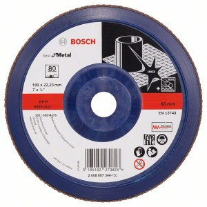 Lāpstveida slīpēšanas disks Bosch Best for Metal; 180 mm