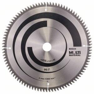 Griešanas disks kokam Bosch MULTI MATERIAL; 305x3,2x30,0 mm; Z96; -5°
