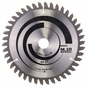 Griešanas disks kokam Bosch MULTI MATERIAL; 160x2,4x20,0 mm; Z42; -5°