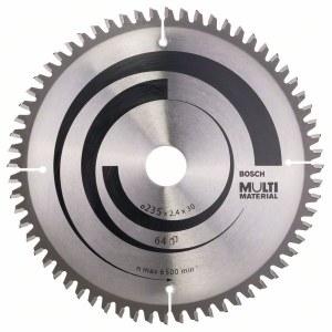 Griešanas disks kokam Bosch MULTI MATERIAL; 235x2,4x30,0 mm; Z64; -5°