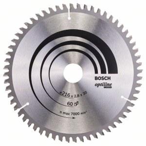 Griešanas disks kokam Bosch; OPTILINE WOOD; Ø216 mm