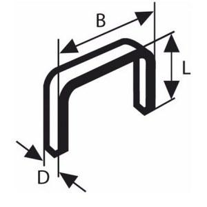 Skavas Bosch; 11,4x4 mm; 1000 gab.; tips 53