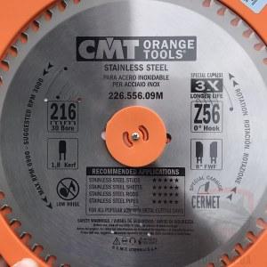 Griešanas disks metālam CMT 216x1.8x30; Z56; 10°