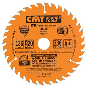 Griešanas disks kokam CMT 136x1,5x20: Z36; 18°