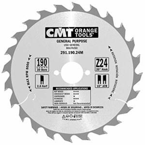 Griešanas disks kokam CMT; 190x2,6x30 mm; Z24