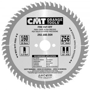 Griešanas disks kokam CMT 292.160.56H; d=160 mm