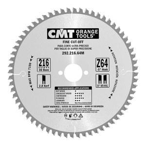 Griešanas disks kokam CMT 216x2,8x30; Z64; -5°