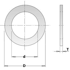 Samazināšanas gredzens CMT 299.242.00; 1,4x16,0x22,2 mm