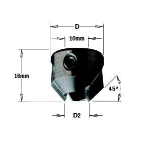 Konisks padziļinātājs CMT 315.220.11; 22 mm; D2=11-12 mm
