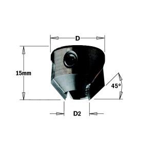 Konisks padziļinātājs CMT 316.040.12; 16 mm; D2=4 mm
