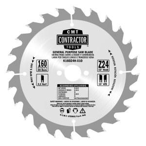 Griešanas disks kokam CMT 165x1,7x20; Z24; 15°°