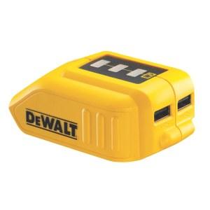 Akumulatoru adapteris DeWalt DCB090 10,8 - 18 V -> USB (x2); Tālruņa akumulatoru uzlādēšanai