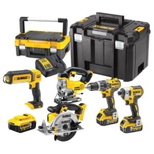 Набор инструментов DeWalt (DCD796 + DCF887 + DCS331 +DCS391 + DCL050); 18 V; 3x5,0 Ah аккум.