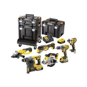 Набор инструментов Dewalt DCK654P3T (DCD796+DCF887+DCG412+DCS355+DCS391+DCB273); 18 V; 3x5,0 Ah аккум.