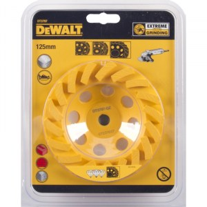 Dimanta slīpēšanas disks DeWalt TURBO; 125 mm