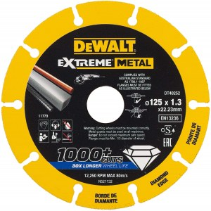 Dimanta griešanas disks DeWalt DT40252-QZ; 125x22,23x1,3 mm