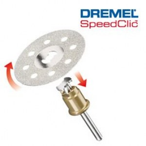 Dimanta griešanas disks SpeedClic Dremel SC545, 38,0 mm