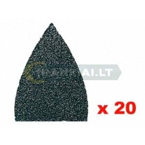 Smilšpapīrs deltveida slīpmašīnām Fein; P80; 20 gab.