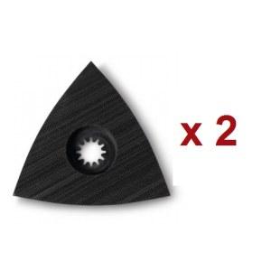 Trijstūrveida slīpēšanas paliktnis ar līpošu virsmu Fein; 2 gab.