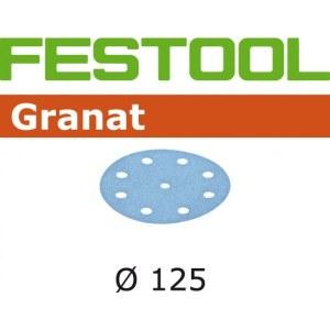 Smilšpapīrs ekscentra slīpmašīnai Granat; 125 mm; P1200; 50 gab.